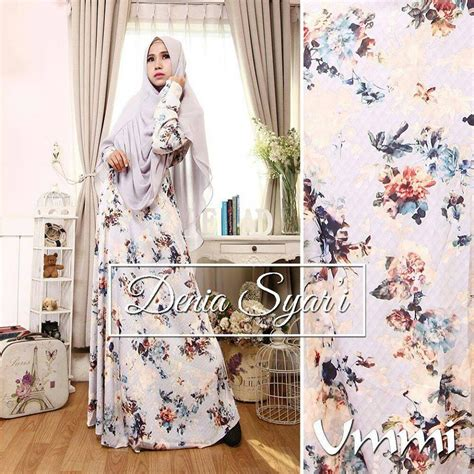 Pusat Grosir Baju Rufelia Dress Satin Silk muslim dress new from indonesia busana muslim pesta