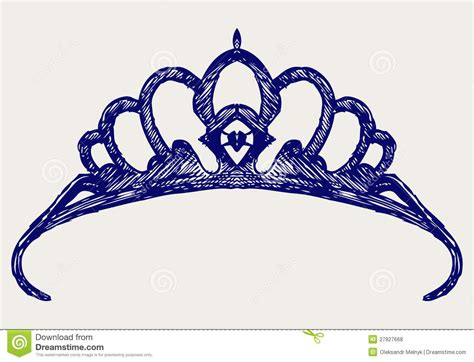 crown doodle style royalty free stock photos image