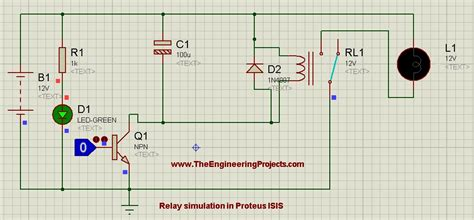how to relay in proteus the engineering