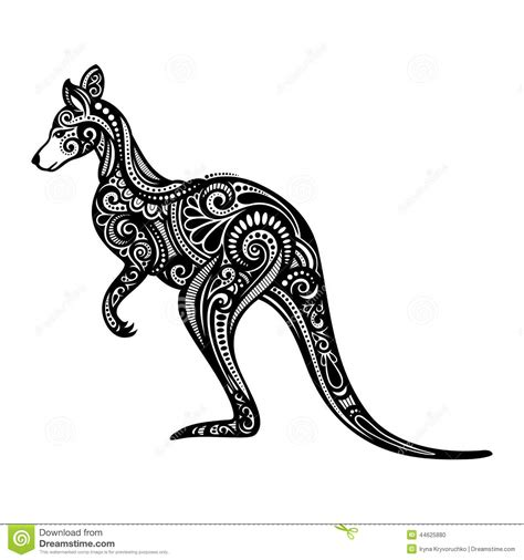 vector decorative kangaroo stock vector illustration of