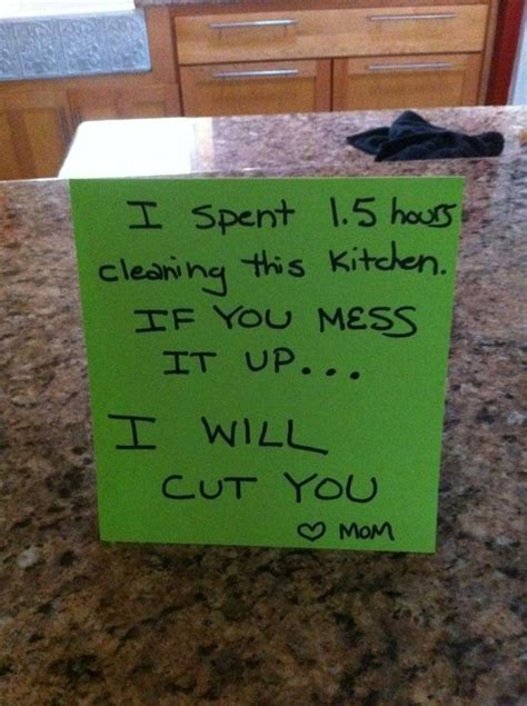 Notes From The Kitchen by Threatening Note Day Continues Pictures Quotes