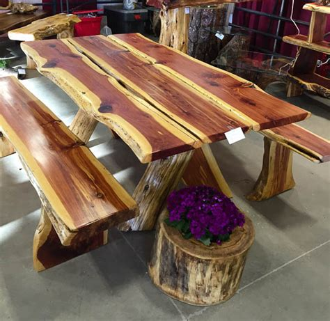 rustic outdoor picnic tables cedar wood picnic tables an ageless timeless for your