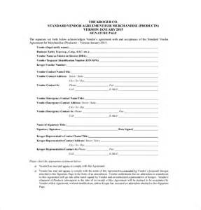event vendor agreement template vendor agreement template 12 free word pdf documents
