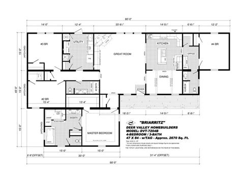 deer valley mobile home floor plans 16 best deer valley briar ritz images on pinterest deer