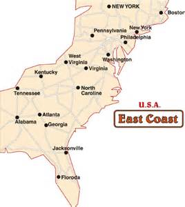 east coast travel maps travel guide