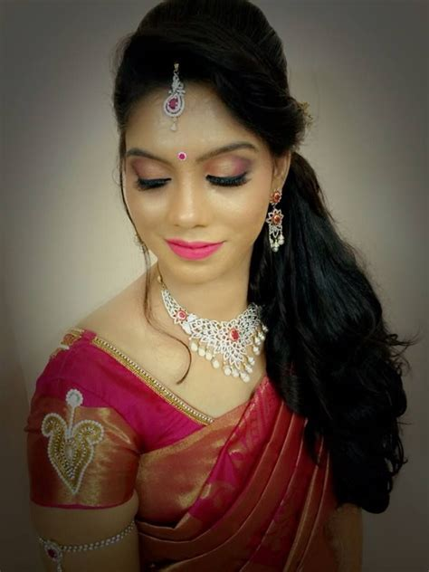bridal hairstyles saree indian bride s bridal reception hairstyle by swank studio