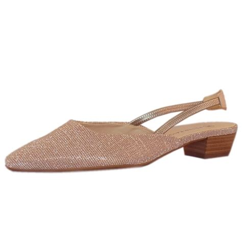 dressy low heel sandals kaiser castra powder shimmer s dressy low
