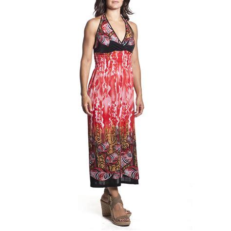 Halter Maxi Sundress 2 women s tie neck halter maxi dress length sundress