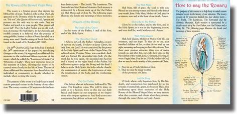 printable version of how to pray the rosary 7 best images of printable rosary phlet fold how to