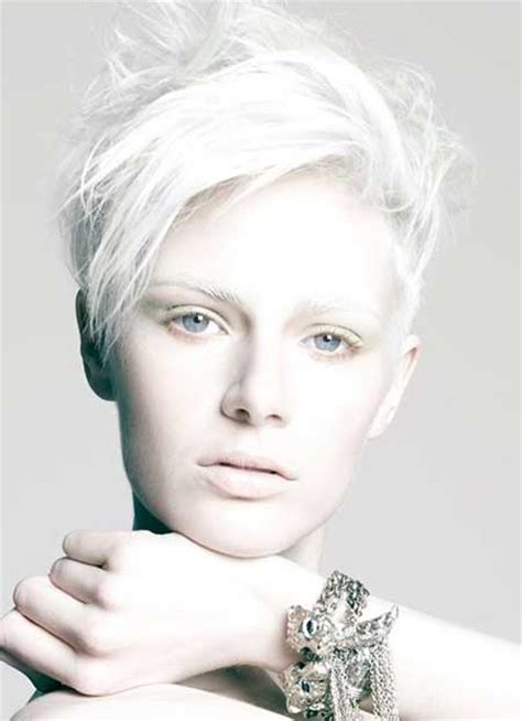 short white hair short hair color ideas 2014 2015 short hairstyles 2017