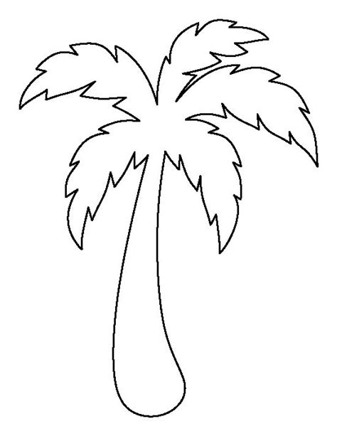 Tree Stencil Template by Palm Tree Pattern Use The Printable Outline For Crafts