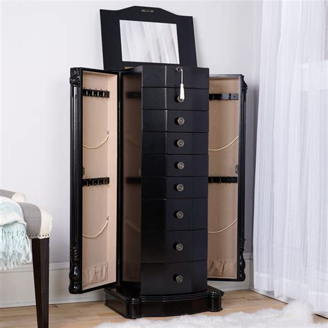 florence jewelry armoire antiqued black lacquer hives