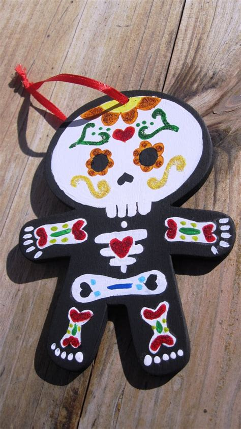 ornament dia de los muertos cards ornaments pinterest