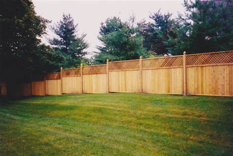 6 X 8 Unfinished Western Fence City 6 Ft High Western Cedar Lattice Top 1 X 6