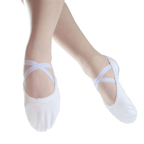 ballet slippers pictures danzcue split sole canvas ballet slipper dqbs004a