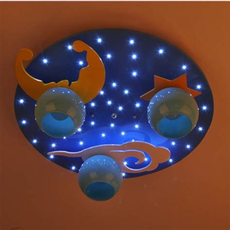 childrens bedroom star ceiling lights cartoon blue star moon children s bedroom ceiling fixtures