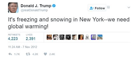 donald trump global warming 10 of trump s worst tweets so far