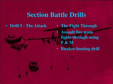 6 section battle drills powerpoint ppt the section attack powerpoint presentation id 3146822