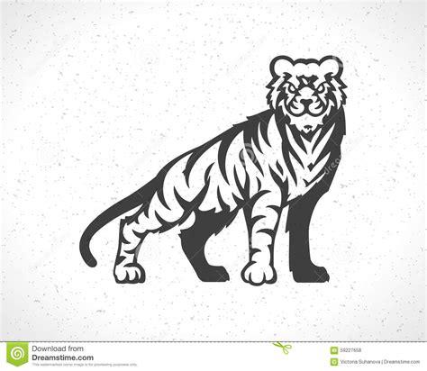 tiger logo emblem template mascot symbol stock vector