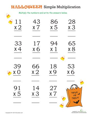 Simple Multiplication Worksheets by Math Simple Multiplication 2 Activities
