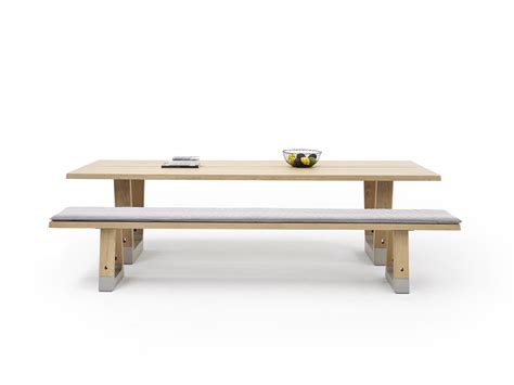 van bench designer table base round tables by arco