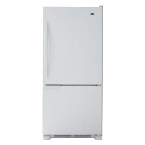 maytag 30 in w 18 5 cu ft bottom freezer refrigerator