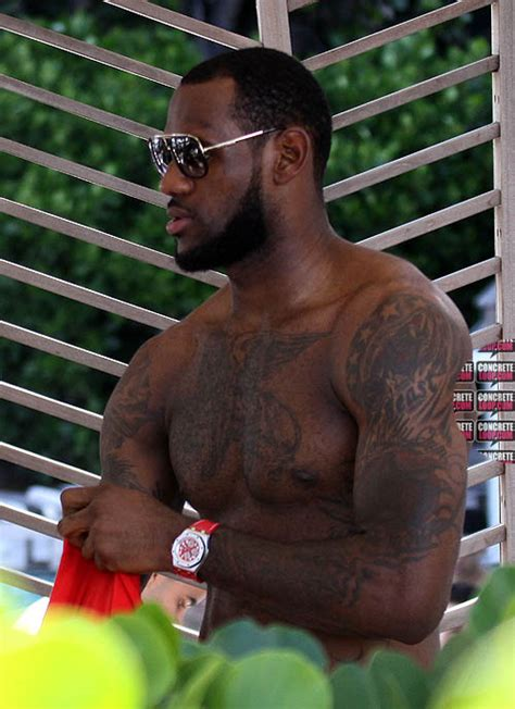 lebron james tattoo on shoulder event snaps lebron spotted at the w hotel
