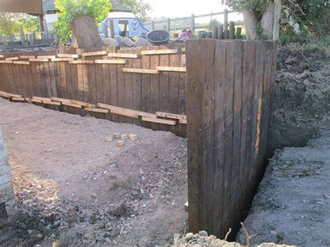 Retaining Sleepers by Retaining Wall With Azobe Railway Sleepers