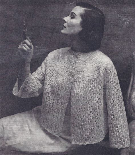 free knitting pattern bed jacket crochet patterns bed crochet club