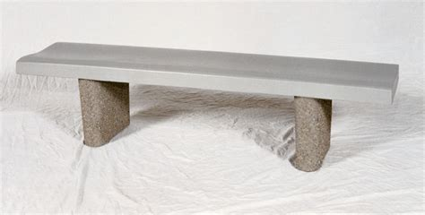concrete bench seat 6 backless concrete bench w curved seat concrete benches