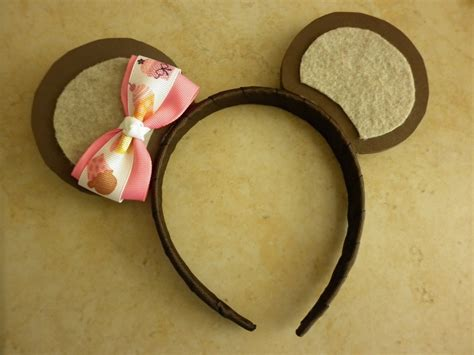 cutesie lil teddy bear ears headband with cupcake bow or