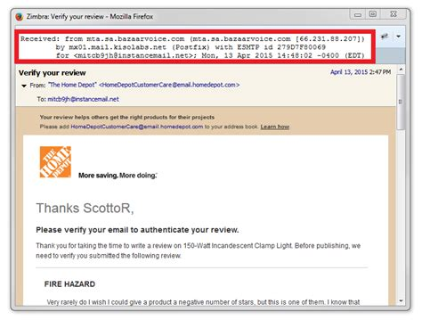 home depot bazaarvoice sending annoying emails s co tt
