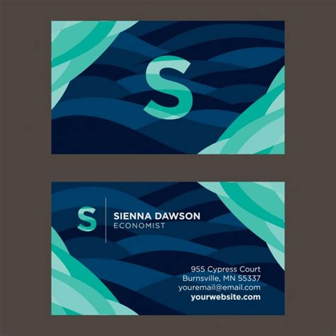 Travel Business Card Template With Wavy Designs by Wavy Business Card Template Vector Free