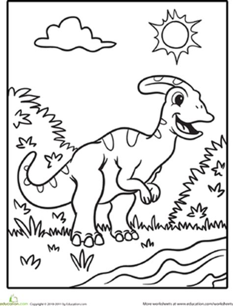 educational dinosaur coloring pages color the cute dinosaur hadrosaur coloring page