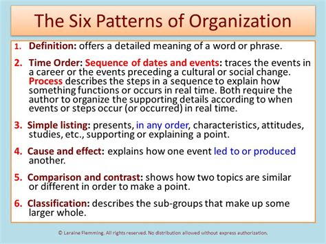 classification pattern paragraph chapter 10 learning from organizational patterns in