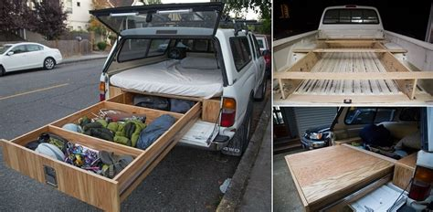 diy truck bed cer toyota tacoma with a bed and drawer system icreatived