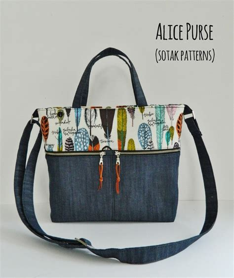 Handmade Tote Bags Patterns - s o t a k handmade purse new pdf pattern