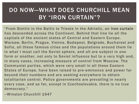 what did churchill mean by iron curtain what did winston churchill mean by the iron curtain
