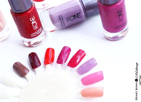 The One Wear Nail Snowflame oriflame the one wear nail polishes review swatches shades bows makeup
