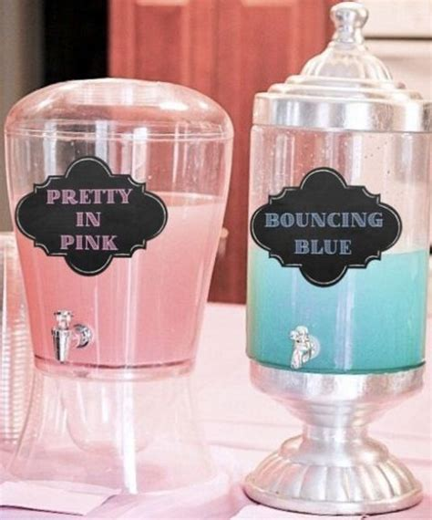 Blue Drinks For Baby Shower by 31 And Sweet Gender Reveal Ideas Shelterness