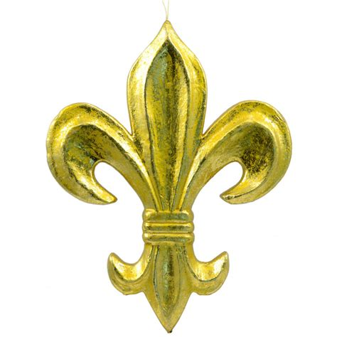 gold fleur de lis and black inscription on shoulder 16 quot gold leaf fleur de lis decoration mz1676h6