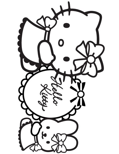 hello kitty birthday coloring pages coloring home