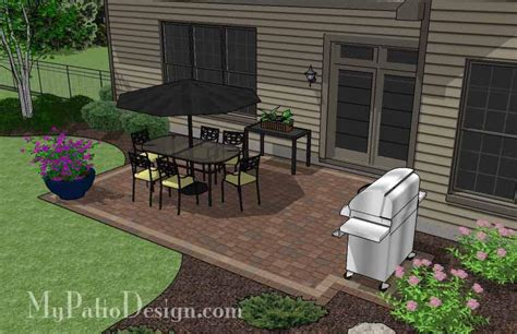 diy rectangular patio design downloadable patio plan mypatiodesign com