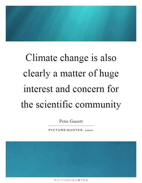 matters of interest climate change is also clearly a matter of interest