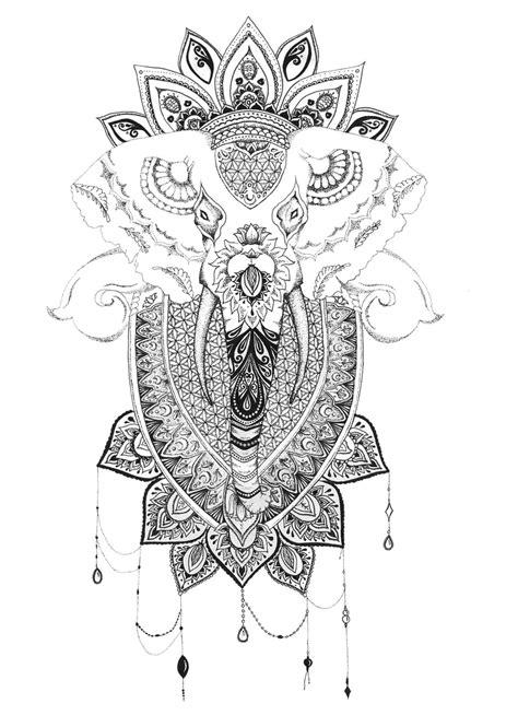 elephant mandala galerie tatouage