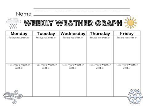printable 5 year journal weekly weather graph weather unit or add to daily