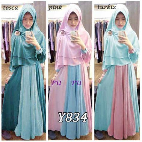 Baju Muslim Gamis Zulfa Dila baju gamis bergo zulfa new y834 busana muslim remaja