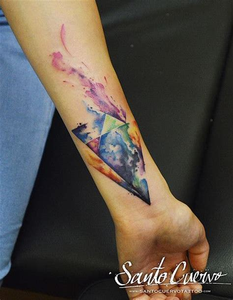tattoo london hackney watercolour triangles tattoo by alex alvarado vegan