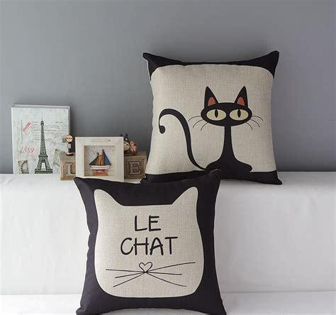 new linen cushion covers pillow cases pillow cover cat
