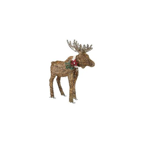 Outdoor Lighted Moose Lighted Rattan Moose 6 Exterior Decorations Real Simple